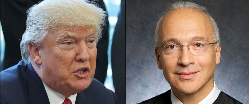PHOTO: President Donald Trump, and U.S. District Judge Gonzalo Curiel.