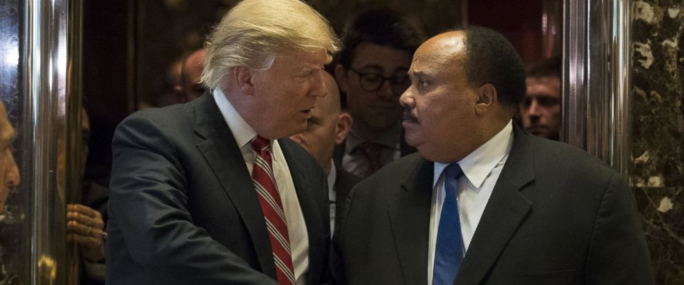 Trump Meets With Martin Luther King Jr S Son Abc News