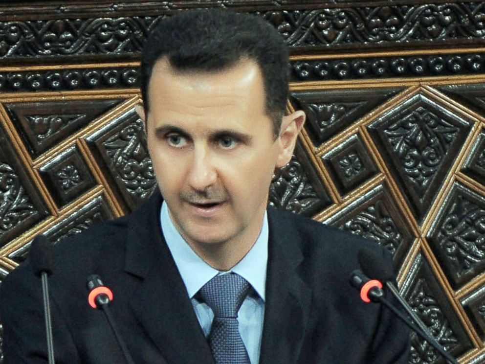PHOTO: Syrian President Bashar Al-Assad addresses the parliament in Damascus, Syria, March 30, 2011.