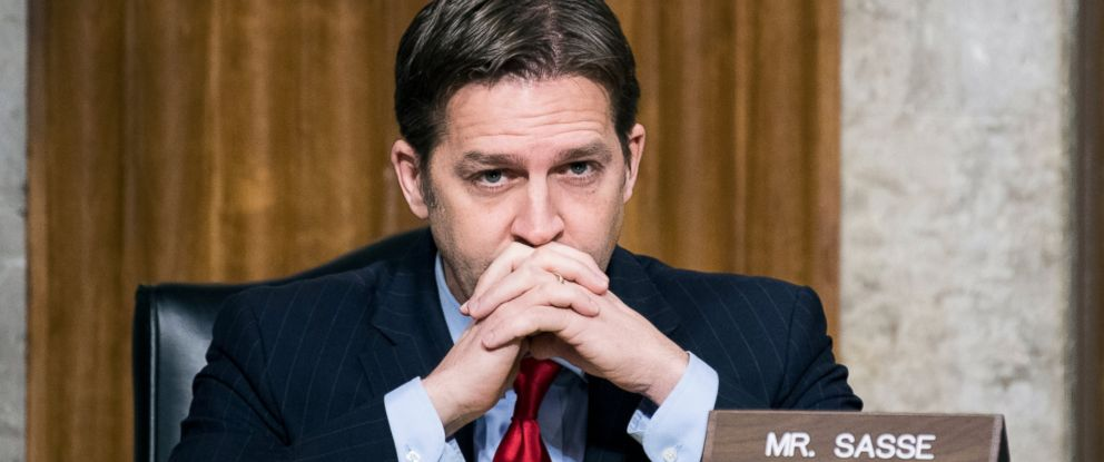 PHOTO: Sen. Ben Sasse, R-Neb., listens as Secretary of Defense nominee James Mattis testifies during his confirmation hearing in the Senate Armed Services Committee, Jan. 12, 2017, in Washington.