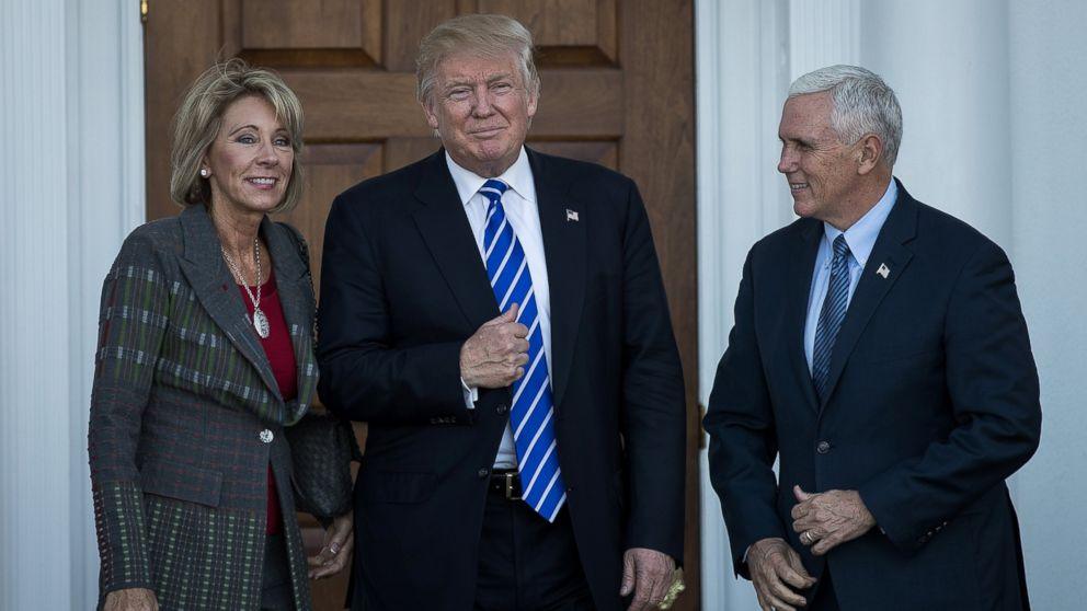Betsy Devos Trumps Education Pick Plays >> What We Know About Betsy Devos Views On Education Abc News
