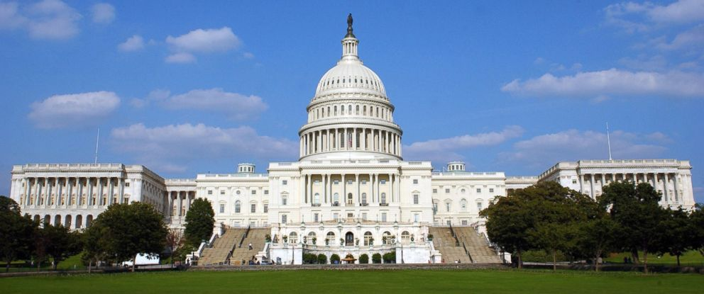 The U.S. Capitol building is seen here.