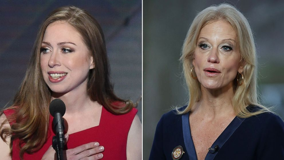 Chelsea Clinton And Trump Counselor Kellyanne Conway Face