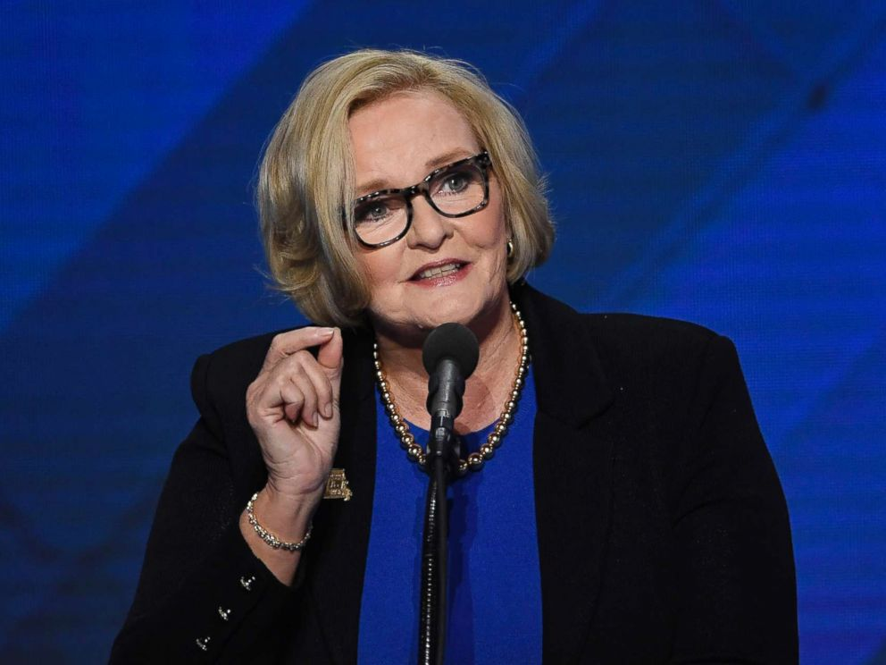PHOTO: Sen. Claire McCaskill speaks during the Democratic National Convention (DNC) in Philadelphia, July 28, 2016.