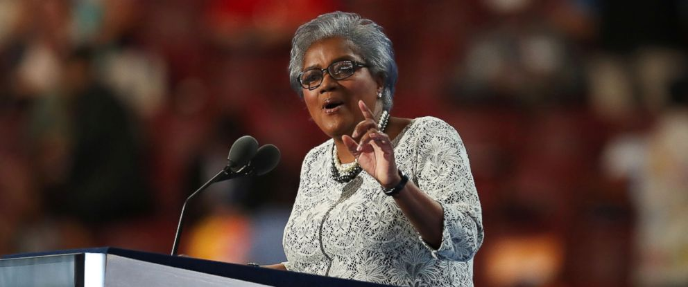 PHOTO: Donna Brazile speaks during the Democratic National Convention (DNC) in Philadelphia, July 26, 2016.