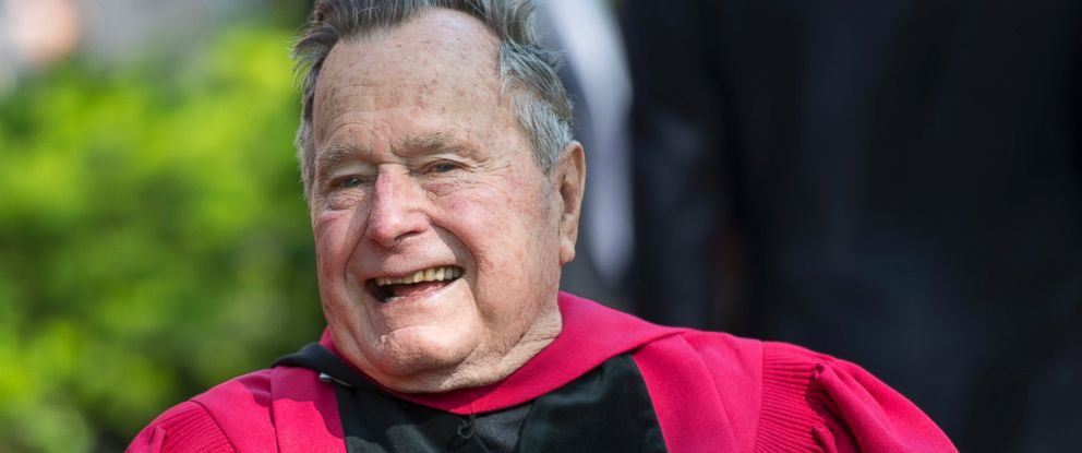 PHOTO: Former President George H. W. Bush receives an honorary doctorate during Harvard Universitys 363rd commencement ceremony in Cambridge, Massachusetts, May 29, 2014.