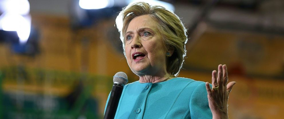 PHOTO: Democratic presidential nominee Hillary Clinton speaks at a rally at Palm Beach State College in Lake Worth, Florida, Oct. 26, 2016.