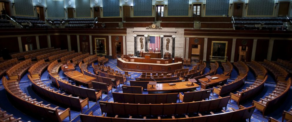 PHOTO: An empty House of Representatives Chamber on Capitol Hill in Washington, D.C. is pictured Jan. 10, 2010.