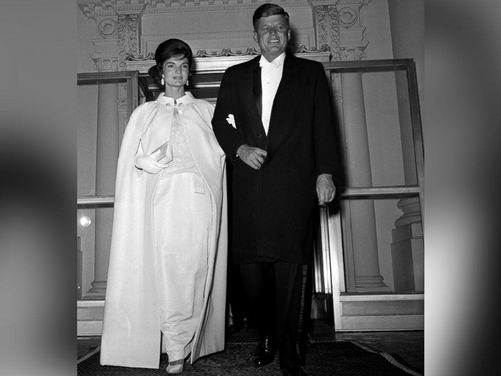 PHOTO: President and Mrs. John F. Kennedy are seen as they left the White House to attend a series of inaugural balls.