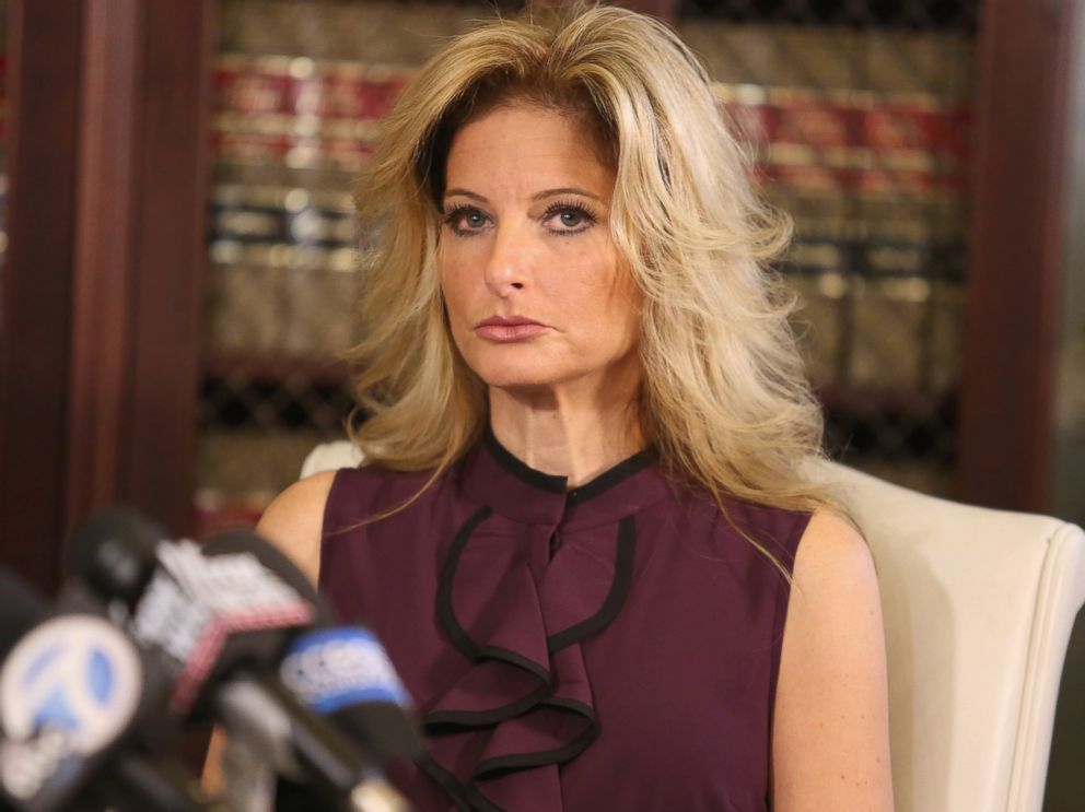 PHOTO: Summer Zervos, a former candidate on The Apprentice season five, who is accusing Donald Trump of inappropriate sexual conduct, speaks to the press with her attorney Gloria Allred, Oct. 14, 2016 in Los Angeles.