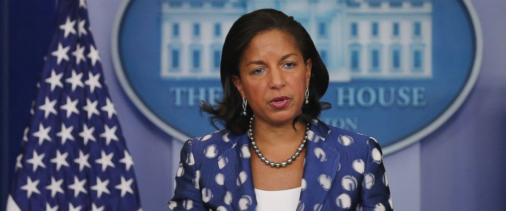 PHOTO: White House National Security Adviser Susan Rice briefs reporters about President Barack Obamas upcoming trip to Africa in the Brady Press Briefing Room at the White House, July 22, 2015 in Washington, D.C.