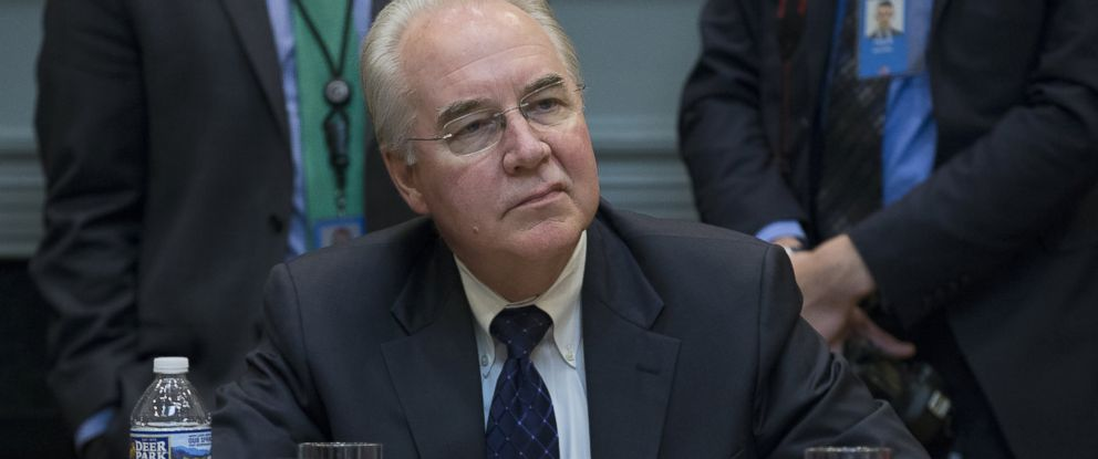 PHOTO: Secretary of Health and Human Services Tom Price attends a meeting on healthcare hosted by President Donald Trump in the Roosevelt Room of the White House, March 13, 2017 in Washington, D.C.