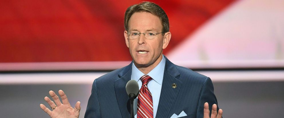 PHOTO: Tony Perkins, President of the Family Research Council, speaks on the last day of the Republican National Convention in Cleveland, Ohio, July 21, 2016.