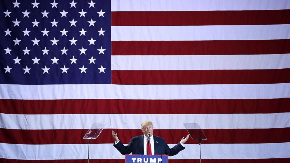 Donald Trump addresses a campaign rally, Oct. 31, 2016, in Grand Rapids, Mich.