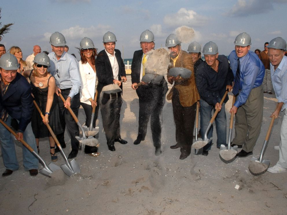 PHOTO: Donald Trump and Jorge Perez break ground at Trumps latest project Trump Hollywood, March 30, 2007, in Hollywood, Florida.
