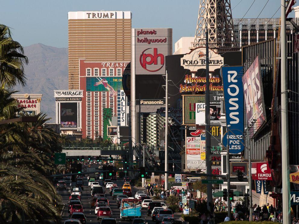 PHOTO: The Las Vegas strip is seen, Oct. 18, 2016 in Las Vegas, Nevada.