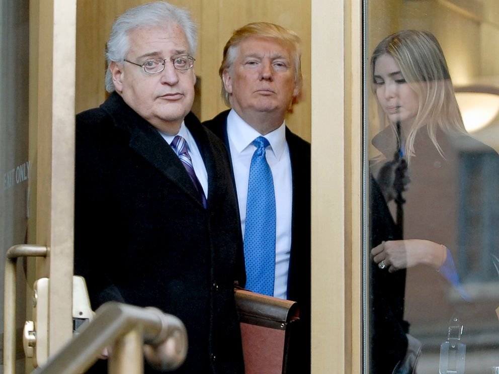 PHOTO: Billionaire real estate developer Donald J. Trump, center, his daughter Ivanka Trump, right, and attorney David Friedman exit U.S. Bankruptcy Court in Camden, New Jersey, Feb. 25, 2010.