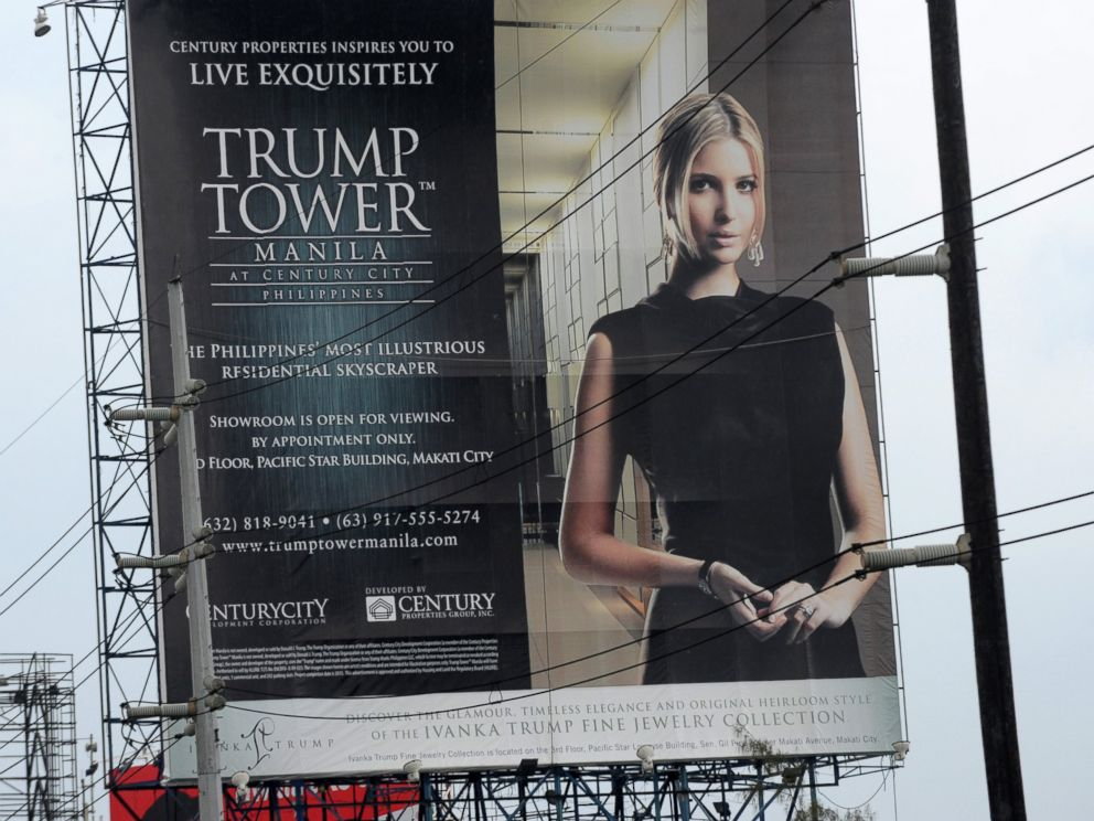PHOTO: This photo taken on July 14, 2012 shows a Trump Tower poster displayed on a roadside billboard in Manila, Philippines.