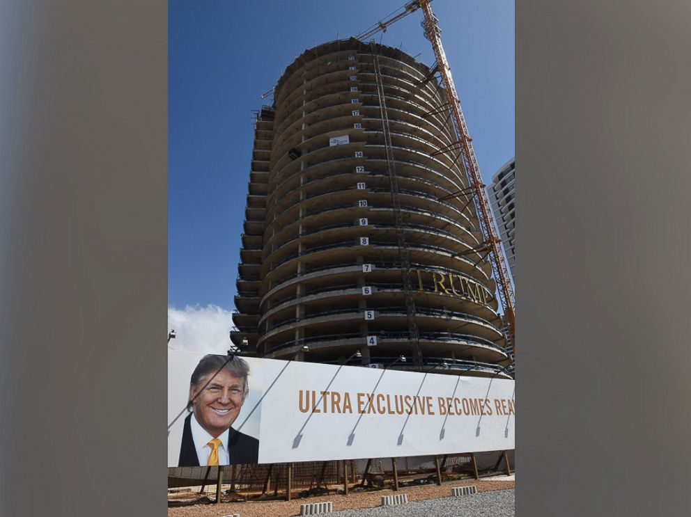 PHOTO: Trump Tower is pictured under construction in the exclusive Uruguayan resort of Punte del Este near Montevideo in Uruguay, Dec. 4, 2016.