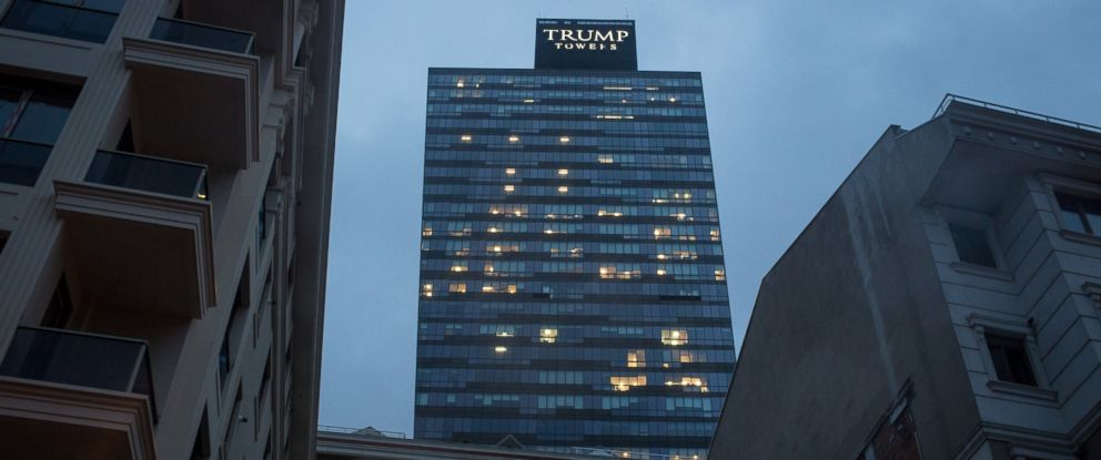 PHOTO: Trump Towers Istanbul is seen overlooking a residential area of Sisli District, Nov. 29, 2016 in Istanbul, Turkey.