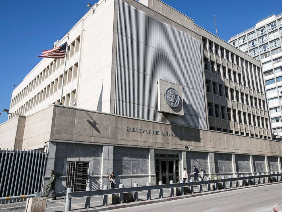 PHOTO: The U.S. Embassy building in Tel Aviv, Israel, on Jan. 20, 2017.