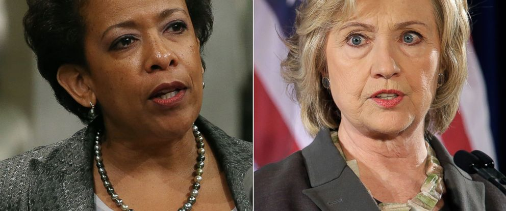 PHOTO: U.S. Attorney General Loretta Lynch | Democratic presidential hopeful Hillary Rodham Clinton