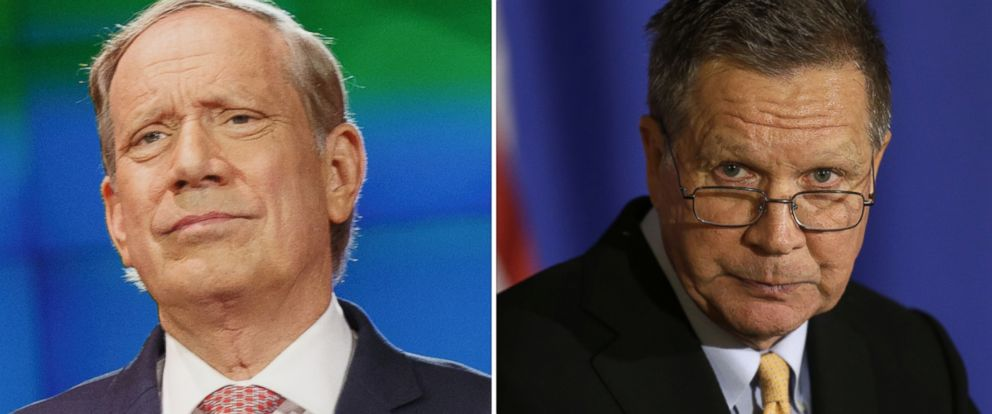 PHOTO: George Pataki, former governor of New York, and Gov. John Kasich of Ohio.