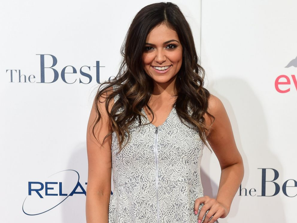 PHOTO: Bethany Mota poses on arrival for the World Premiere of the film The Best of Me in Los Angeles in this Oct. 7, 2014 file photo.
