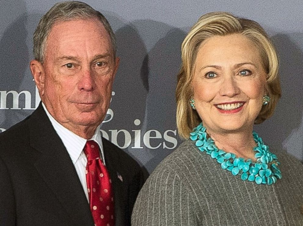 PHOTO: Michael Bloomberg and Hillary Clinton attend Data2X, discussion on the vital role data plays in closing gender gaps, and how lack of data can inhibit progress for women and girls globally at Bloomberg Philanthropies on Dec. 15, 2014 in New York.