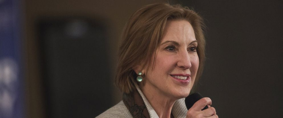 PHOTO: Carly Fiorina speaks during a campaign event in Merrimack, N.H in this Feb. 5, 2016 file photo.