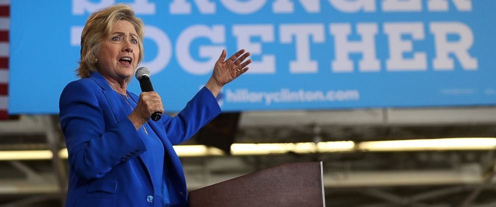 PHOTO:Democratic presidential nominee Hillary Clinton speaks during a voter registration event at Johnson C. Smith University on September 8, 2016 in Charlotte, N.C.
