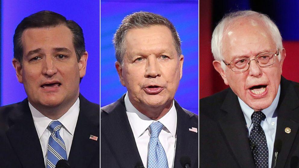 Sunday on 'This Week': Sen. Ted Cruz, Gov. John Kasich, and Sen. Bernie Sanders