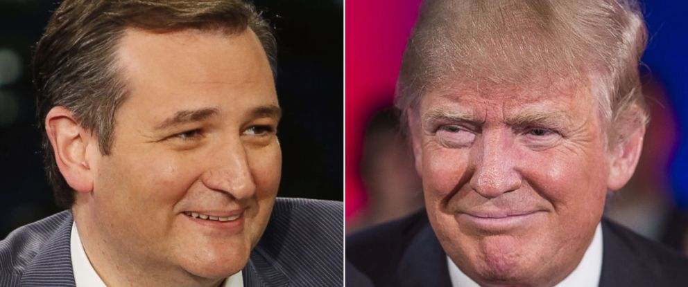 """PHOTO: Presidential candidate Ted Cruz visits """"Jimmy Kimmel Live"""" on March 30, 2016   Republican Presidential candidate Donald Trump films a town hall meeting for MSNBC with Chris Matthews on March 30, 2016 in Green Bay, Wis."""