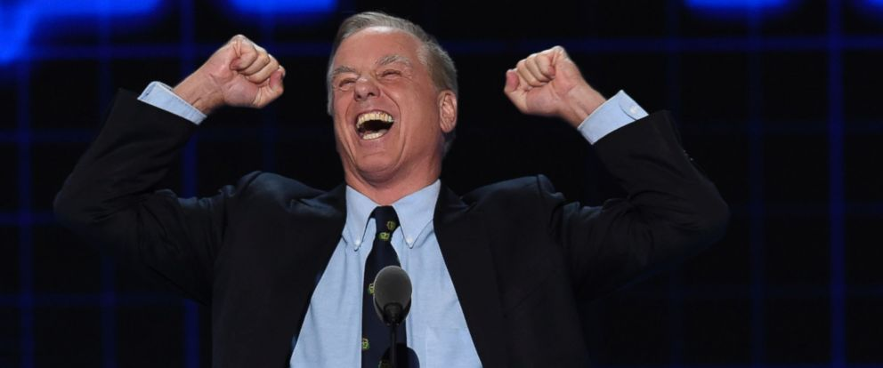 PHOTO: Former Governor of Vermont Howard Dean speaks during the second day of the Democratic National Convention, July 26, 2016 in Philadelphia.