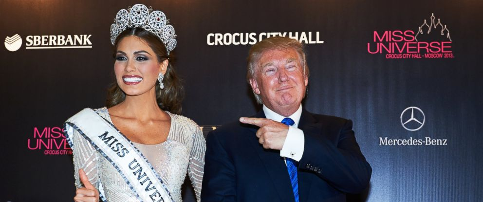 PHOTO: Miss Venezuela 2013, Gabriela Isler, poses after her win at final of the competition Miss Universe 2013 with Donald J. Trump in Crocus City Hall, in Moscow, on Nov. 9, 2013.