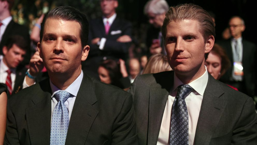 Image result for images of Eric Trump and Trump Jr.