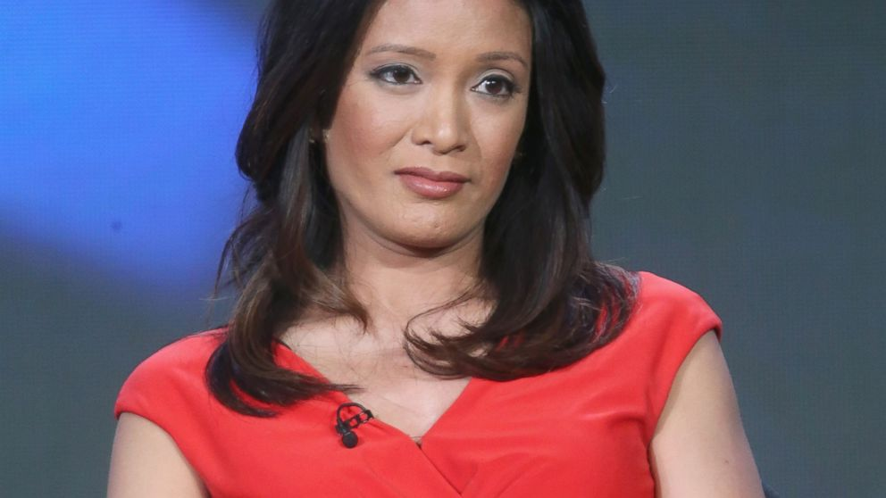 """Correspondent CBS News Elaine Quijano speaks onstage during the """"CBSN"""" panel discussion at the CBS/ShowtimeTelevision Group portion of the 2015 Winter TCA Tour at the Langham Huntington Hotel, Jan. 12, 2016, in Pasadena, California."""