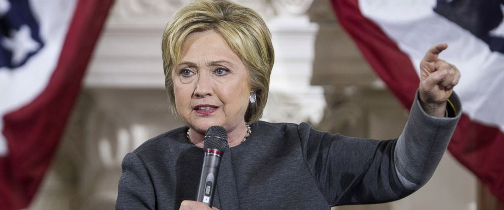 PHOTO: Hillary Clinton, former Secretary of State and 2016 Democratic presidential candidate, speaks at the Old South Meeting House on Feb. 29, 2016 in Boston.