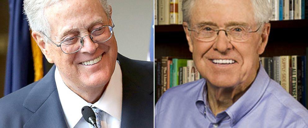 PHOTO: David Koch, left, and Charles Koch