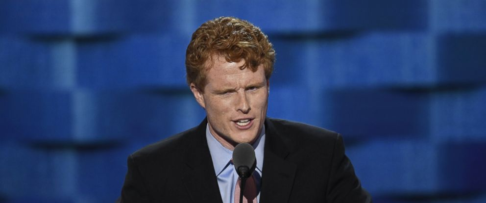 PHOTO: Representative Joe Kennedy, a Democrat from Massachusetts, speaks during the Democratic National Convention (DNC) in Philadelphia, July 25, 2016.