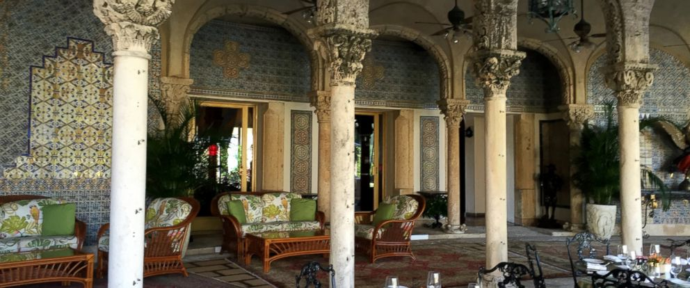 PHOTO: The tiled patio at Mar-a-Lago, a focal point of the estate of Donal Trump, in Palm Beach, Fla. on Nov. 4, 2015.
