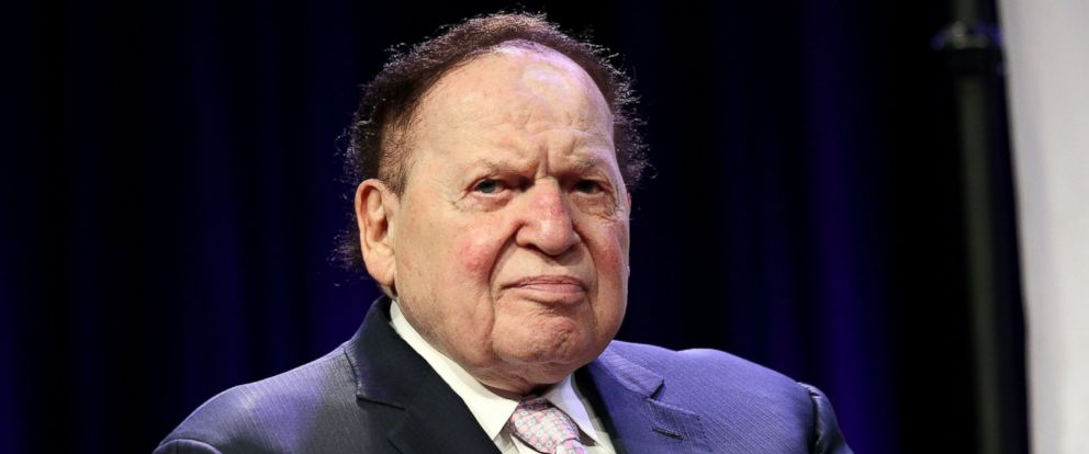 PHOTO: Casino magnate Sheldon G. Adelson in attendance at the 4th Annual Champions Of Jewish Values International Awards Gala at Marriott Marquis Times Square, on May 5, 2016, in New York City.