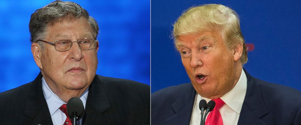 PHOTO: Former New Hampshire Gov. John Sununu speaks during the Republican National Convention, Aug. 28, 2012 in Tampa, Florida. Donald Trump speaks at a rally at Great Bay Community College on Feb. 4, 2016 in Portsmouth, New Hampshire.
