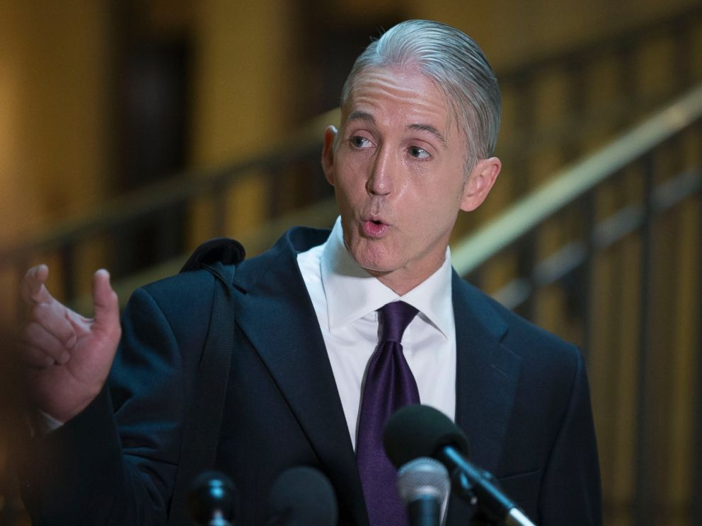 PHOTO: Representative Trey Gowdy, speaks to the media in Washington, D.C., Sept. 3, 2015.