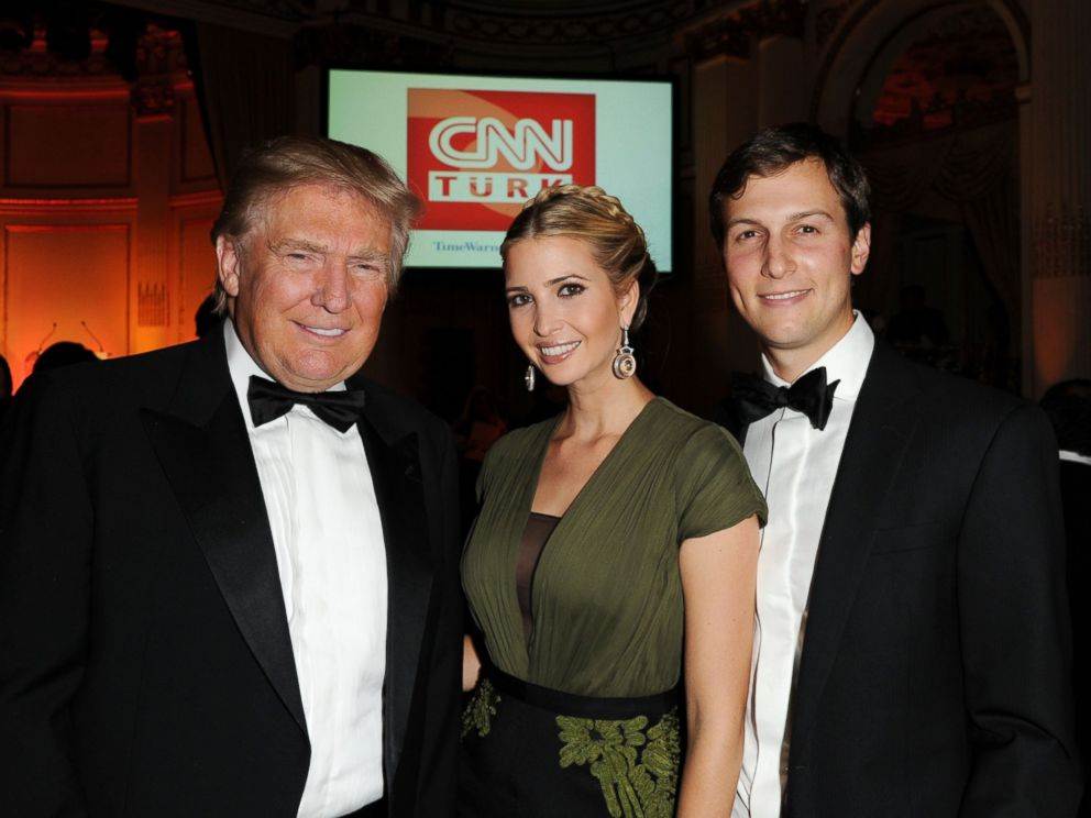 PHOTO: Donald Trump, Ivanka Trump and Jared Kushner attend the Turkish Society Annual Dinner Gala at The Plaza Hotel on Oct. 18, 2012 in New York.