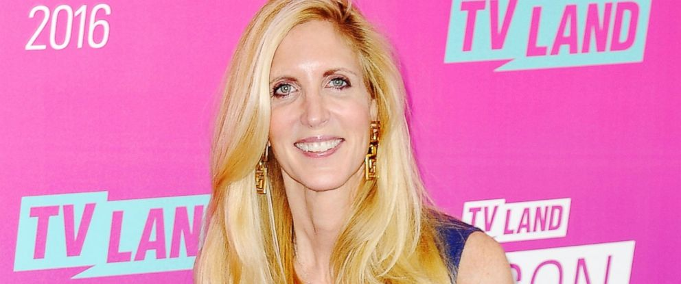 PHOTO: Ann Coulter arrives at the TV Land Icon Awards at The Barker Hanger, April 10, 2016, in Santa Monica, California.