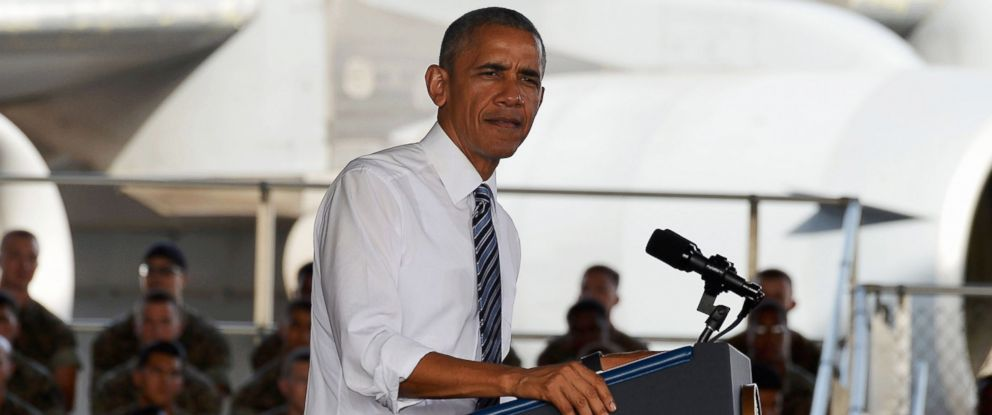 PHOTO: President Barack Obama speaks as he visits Rota naval base, July 10, 2016 in Rota, Spain.