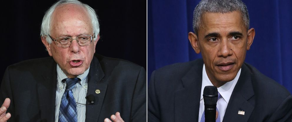 PHOTO:Democratic presidential candidate Sen. Bernie Sanders speaks at a forum, Nov. 9, 2015 in Las Vegas. Barack Obama participates in a conversation on criminal justice reform, Oct. 22, 2015, in Washington.