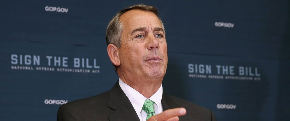 PHOTO: Speaker of the House John Boehner calls on reporters during a news conference following the weekly House GOP conference meeting, Oct. 21, 2015, in Washington.