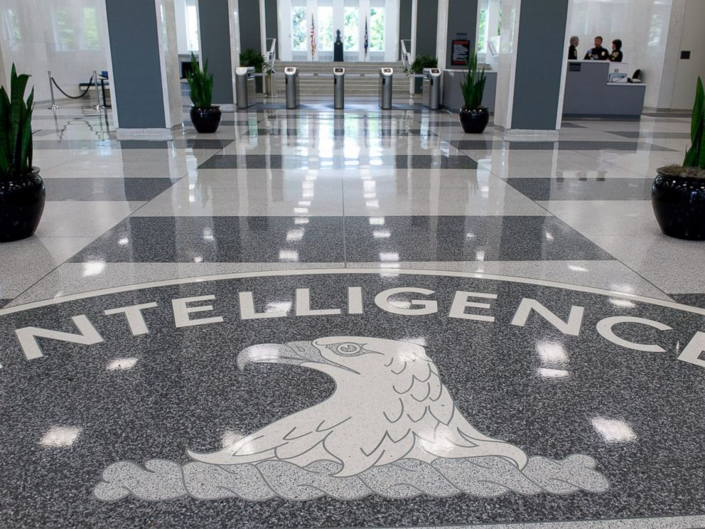 PHOTO: The Central Intelligence Agency (CIA) logo is displayed in the lobby of CIA Headquarters in Langley, Va, Aug. 14, 2008.